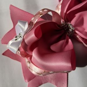 Rosie pink with bloosooms boutique hairbow